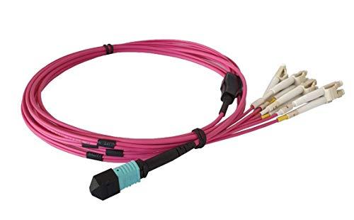 CONBIC MPO / MTP-4LC - Cable MPO (8 fibras, 4 conectores LC dúplex, multimodo, 50/125um, OM4, 3 m)