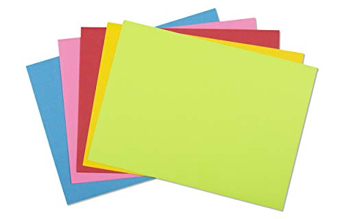 4x6 Envelopes for Invitations, Photos, Graduation, Baby Shower A6 Cards, Weddings, Business, Mailing - Colored Envelope 4 3/4 x 6 1/2 Square Flap Multi Color Pack - 50 Count Box