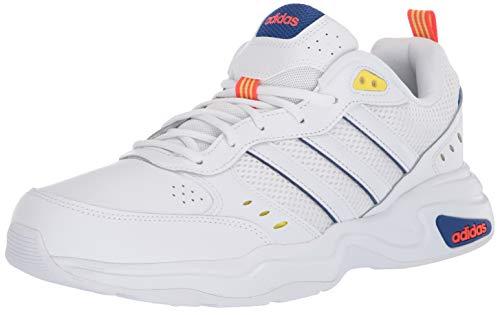 adidas Strutter, Zapatillas Deportivas. Hombre, FTWR White Shock Yellow-Reloj de Pulsera, Color Blanco y Amarillo, 40 EU