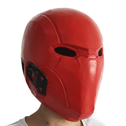 Red Hood Mask Rebirth Latex Helmet Costume Props for Halloween Cosplay Toy
