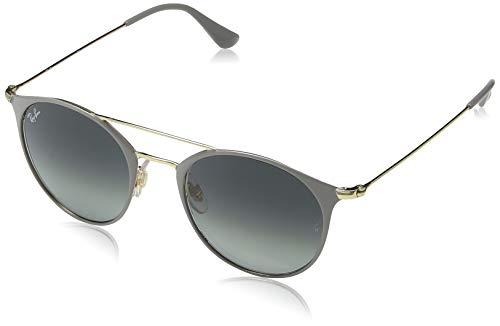 Ray-Ban 0RB3546 Gafas de sol, Gold Top On Grey, 48 Unisex