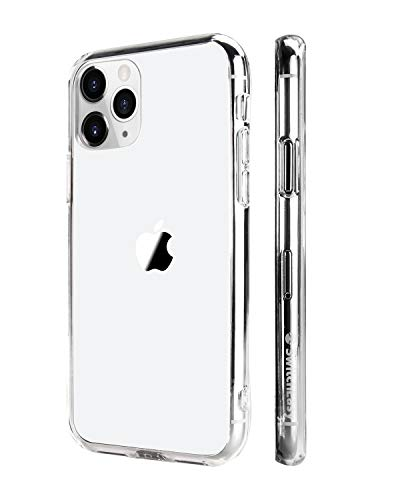Crystal Clear iPhone XR Case, SwitchEasy [Crush] Transparent Case for 6.1 inch iPhone XR with Soft Bumper + Hard Back Cover, Air Cushion Military Drop Protection, Scratch Resistant (Clear, 6.1)