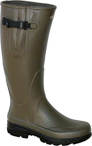 La Chasse | Gummistiefel für Damen und Herren | verstellbare Wadenweite | absolut wasserdicht | Jagdgummistiefel Sommer | Boots aus Gummi für Jäger | | Naturkautschukstiefel Angeln | LaChasse (43 EU)