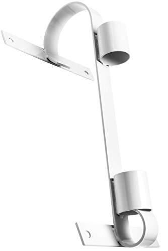 Fahnenhalter, langlebiges verzinktes Metall, weiß, für große und kleine Fahnen