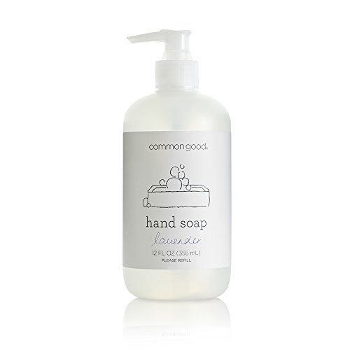 Common Good - Hand Soap, Plant-Based with Pure Essential Oil Scents, Biodegradable Formula, No Parabens or Sulfates, Leaping Bunny Certified (Lavender, 12 ounces)