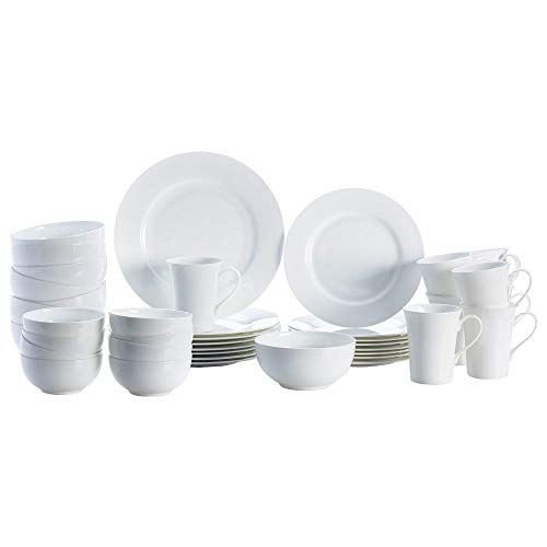 Mikasa 5225580 Delray 40-Piece Dinnerware Set, Service for 8