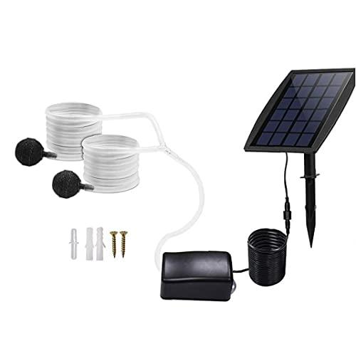 Solar Air Pump Kit Inserting Ground Water Air Pump Oxygenator Solar Aerator with Oxygen Hoses Air Stone for Pond Fish Tank Garden Water Garden & Pond Pumps