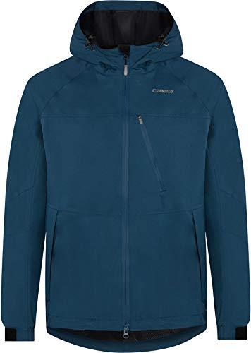 Madison Roam Mens Waterproof Cycling Jacket - Blue, Large/Mountain Bike MTB Water Rain Resistant Hood Coat Hooded Enduro Trail Winter Commute Clothing Wind Wet Weather Repellent Cycle Ride Wear