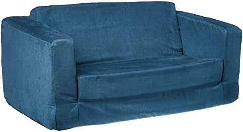 Fun Furnishings Toddler Flip Sofa, Dark Blue
