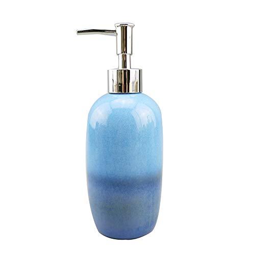 WYZQQ Flüssigseifenpumpe/Emulsionsspender Aus Keramik Mit Silberner Hochdruck-ABS-Pumpe - Ideal Für Badezimmer, Küchenarbeitsplatten Und Badezimmerzubehör