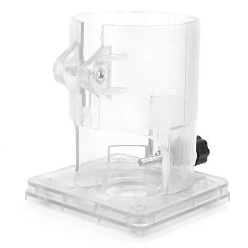 Base de la recortadora, recortadora de carpintería Enrutador Base de plástico transparente...