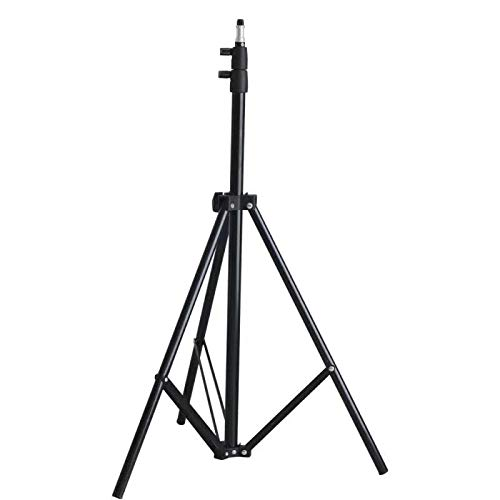Riqiorod Light Stand, 7-Foot Photography Tripod Stand, Floor Selfie Ring Light Support for Studio, Umbrella, Backdrop, LED Panel, Speedlite Flashes, Reflector