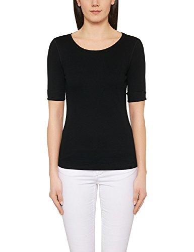Marc Cain Essentials Damen T-Shirt +E4809J50, Schwarz (Black 900), 36 (2)