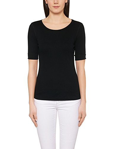 Marc Cain Essentials Damen T-Shirt +E4809J50, Schwarz (Black 900), 46 (7)