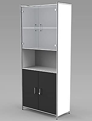 Rolladenschrank anthrazit Büroschrank Schrank Aktenregal Aktenschrank Kunststoff