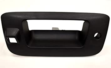 PT Auto Warehouse GM-3547A-BZC - Tailgate Handle Bezel/Trim, Textured Black - with Camera Hole, with Keyhole