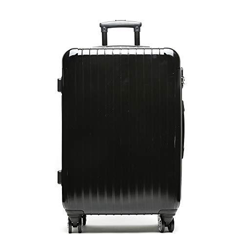 Misako – Maleta de Viaje Roma Mediana 24 X 45 X 68CM - 73L - 3,5KG en Color Negro   4 Ruedas Giratorias Dobles   Maleta Rígida