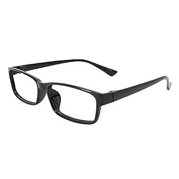 EyeYee Reading Glasses +5.75 Black- Rectangle Full Rim Anti Reflective Mens Womens Eyeglasses Readers Comfortable Stylish Glasses