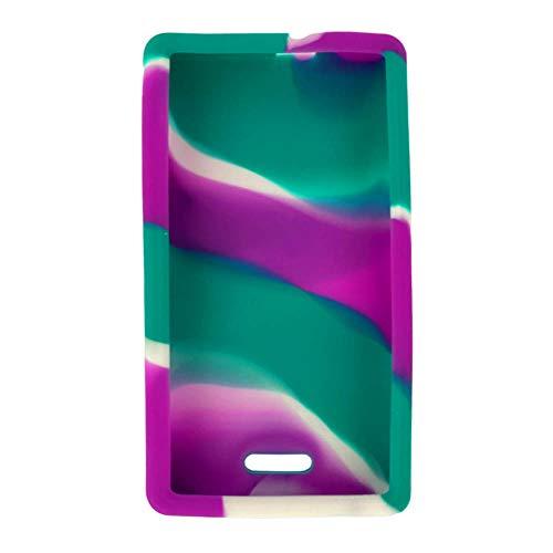 "Omnipod"" Dash Gel Skin- Soft Silicone Cover Designed to Protect The Omnipod Dash Device (Purple/Teal/White)"