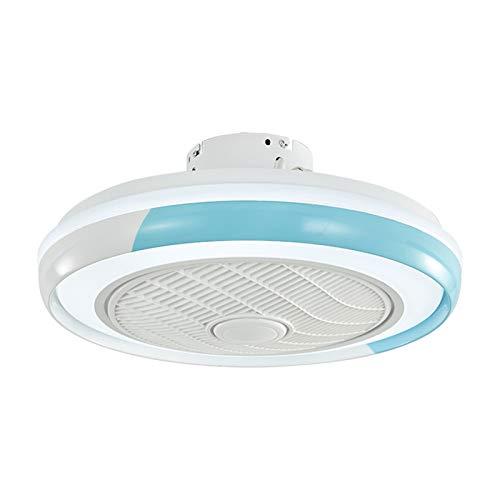 ZYXF Ventilador De Techo con Luz con Deflector De Viento LED Ventilador Viento 80W Ajustable Luz De Techo con Mando A Ultra Silencioso Salón Dormitorio (Color : Blue, Size : 220V)