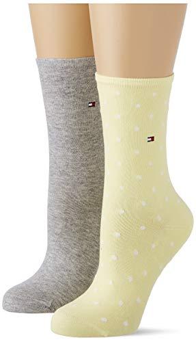 Tommy Hilfiger Frauen Dotted Socken, Gelb, 35/38