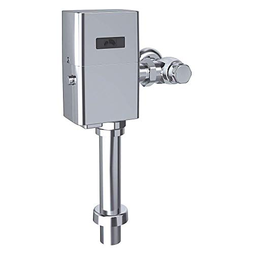 TOTO TET1UA32#CP 12 Inch Chrome-TET1UA32 EcoPower Touchless 1.0 GPF Toilet Flushometer Valve and 12' Vacuum Breaker Set, Polished Chrome