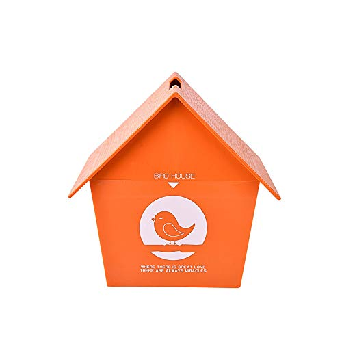 HAIMENG Tissue Box Artoon Oranje Kunststof Roll Tissue Dispenser Box Voor Home Decoratie Woonkamer Vogelhuisjes Servet Papier Handdoek Tube Tissue Box Cover