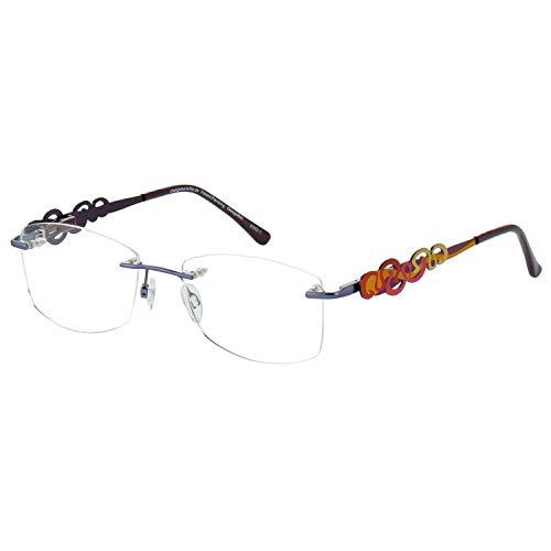 Change Me randlose Brille 2064-2 mit Wechselbügel 8352-1 violett