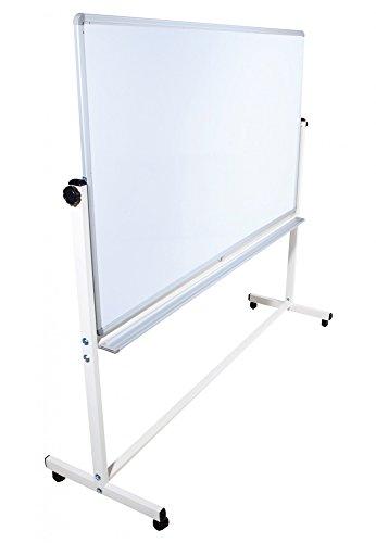 Mobile Whiteboard Tafel beidseitig beschriftbar,in 2 Größen, schutzlackiert, magnethaftend, mit gratis Zubehör (Stifte,Schwämme,Magnete), Größe:180x100 cm