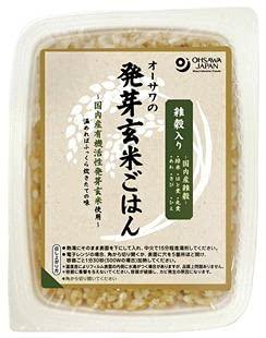 オーサワ 雑穀入り活性発芽玄米ごはん 160g x8個セット