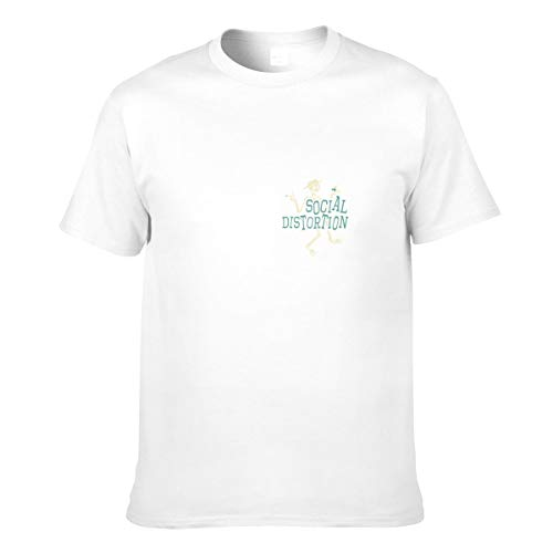 Herren Social Distortion Logo Bekleidung T-Shirt Kurzarm White M Tee T Shirt Rundhalsausschnitt Sommer Tshirt Für Männer