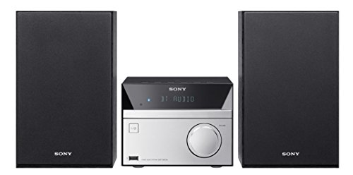 Sony Micro Hi-Fi Stereo Sound System with Bluetooth Wireless Streaming NFC, CD Player, FM Radio, Mega Boost, USB Playback & Charge, AUX Input, Remote Control