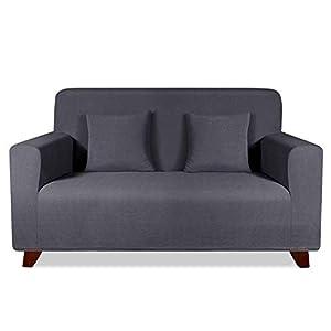 TAOCOCO Funda de sofá con Forma de Diamante/Funda de sofá Antideslizante/Funda de sofá elástica/Lavable/antiácaros/Antiarrugas (Gris, 120_x_190_cm)