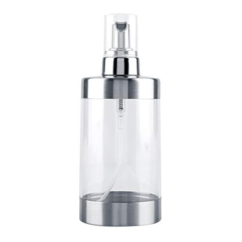 Nancunhuo Dispenser di Sapone schiumogeno - 350ml Acrilico in Acciaio Inox Schiuma di Sapone dispensatore di Sapone da Cucina Bagno Pompa della Pompa del Liquido