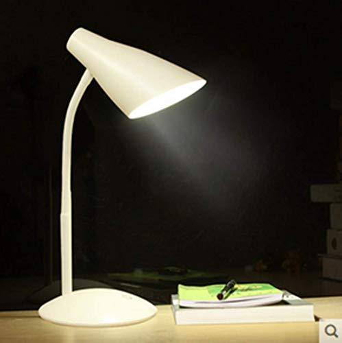 Oplaadbare kleine lamp oogbescherming studie bureau studie college slaapzaal creatieve slaapkamer nachtkastje (wit)