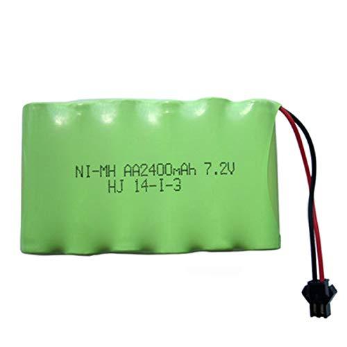 Grehod Paquete de batería Recargable de 2400mah 7.2v para Barco de Herramientas de Juguete eléctrico teledirigido SMPlug