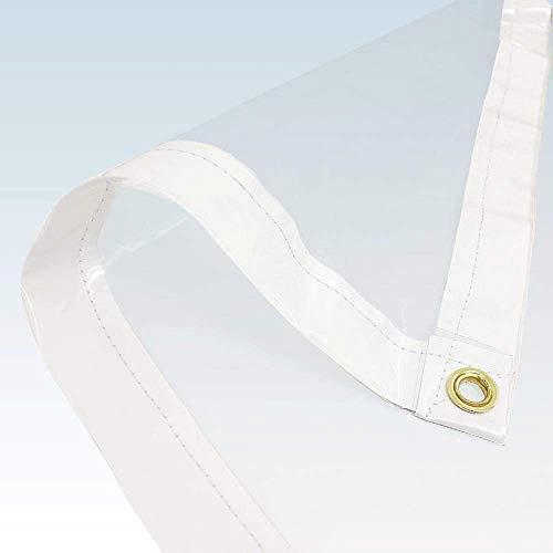 TraderSuppliesOutlet Storefront Cristal PVC Transparente Lona para Mercado Puestos, Hogar, Jardín, Bricolaje, Pollo Runs Y Conejo Conejeras - 10ft x 6ft (3.0m x 1.8m)