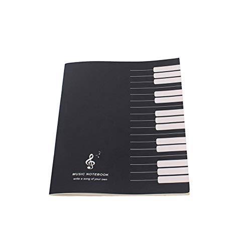 LIOOBO Musik Notebook Musik Label Soft Cover Tabs für Studenten Musik Schulbedarf Geschenk - (schwarz)