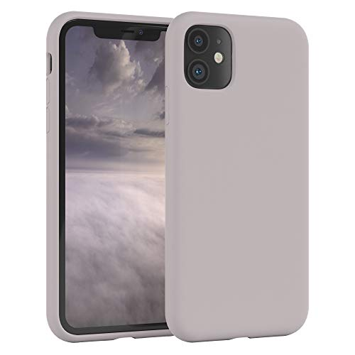 EAZY CASE Premium Silikon Handyhülle kompatibel mit iPhone 11, Slimcover mit Kameraschutz & Innenfutter, Silikonhülle, Schutzhülle, Bumper, Handy Hülle, Hülle, Softcase, Rosa Braun