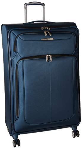 Samsonite SoLyte DLX Softside Luggage, Mediterranean Blue, Checked-Large