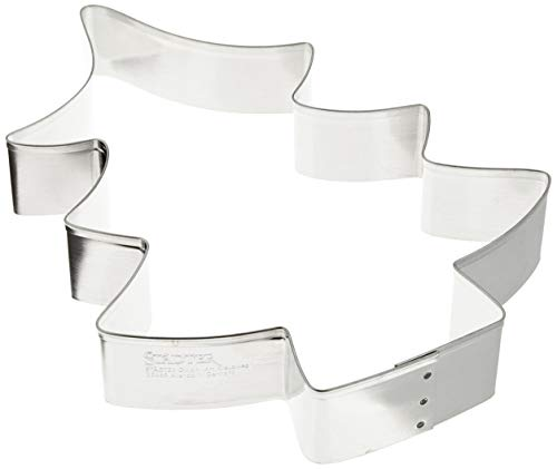Städter Ausstechform Tanne 19 cm Weißblech, Silber, 19 x 19 x 3 cm