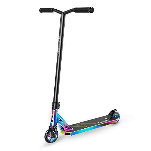 PLAYSHION Pro Stunt Scooter Freestyle Kickscooter für Erwachsene und Kinder mit 110mm Aluminum Rollen