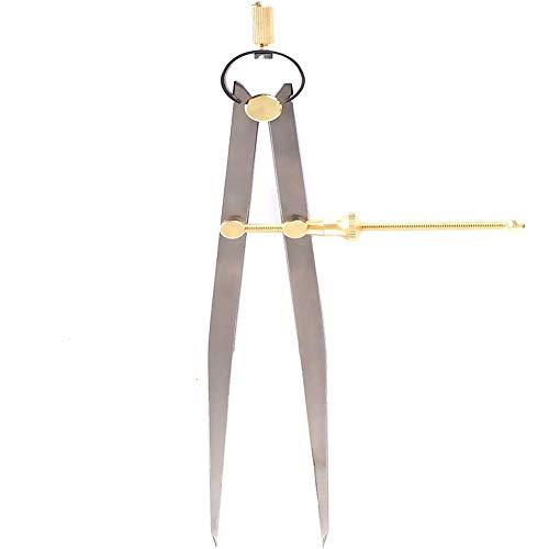 """Spring Compass Caliper Divider Mit Messingbeschlägen & Speed Nut,8"""" Beinlänge Flat Leg Divider Für Zimmermannsgeometrie,Zeichnen,Zeichnen"""