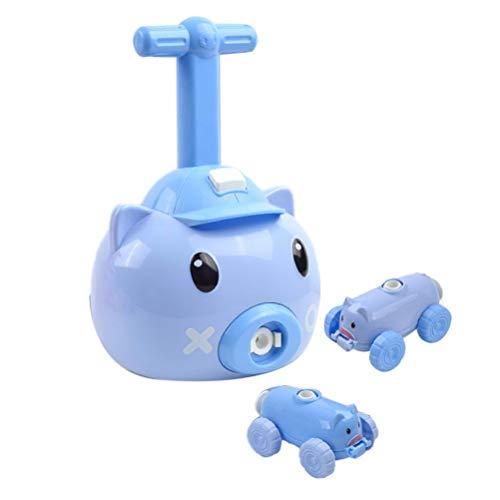 barsku Juguete de energía de Globo inercial para niños, Juguete de Experimento de Ciencia para niños de Coche, Coches de Bomba de Globo Stem inflables