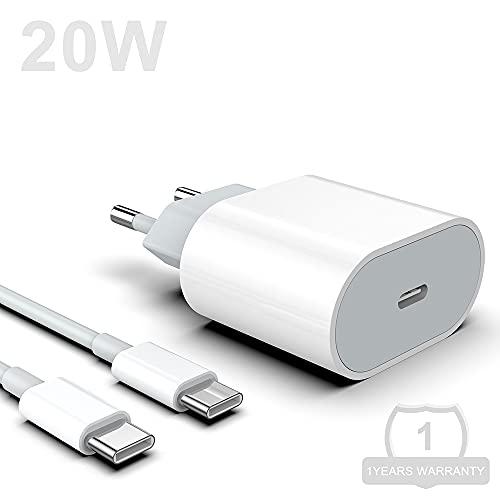 Caricabatterie Rapido Rocketek USB C Da 20 W, Alimentatore Con Cavo Di Ricarica Da 1 M Alimentatore 3.0 Compatibile Con Phone11, 11 Pro, SE 2020, X, XR, XS, Pad, Galaxy, Huawei, Xiaomi, Lenovo, Ecc.