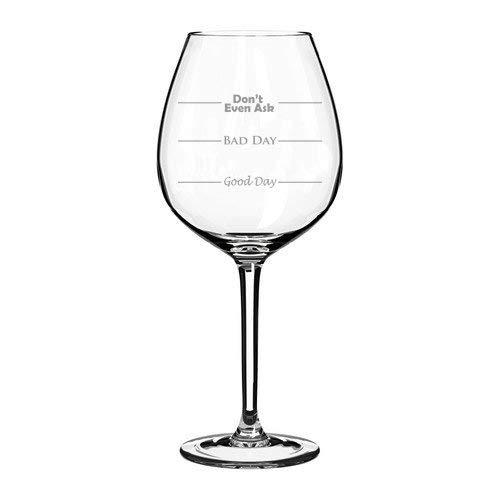 Jumbo-Weinglas mit Aufschrift