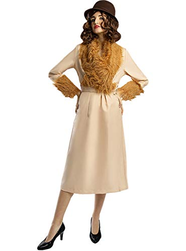 Funidelia | Disfraz de Ada Shelby - Peaky Blinders para Mujer Talla L ▶ Años 20, Películas & Series, Gangster - Color: Beige - Divertidos Disfraces y complementos