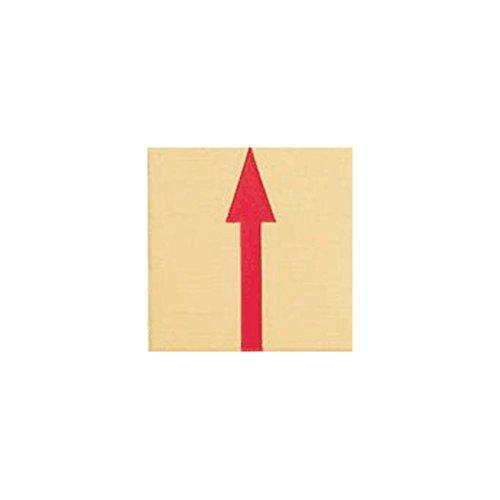 カクマル 境界用標示板(真鍮製)貼付タイプ B35A 35×35×2