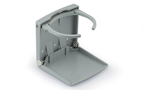 wellenshop Getränkehalter grau, klappbar Dosenhalter Becherhalter Boot Auto LKW Kunststoff Flaschenhalter Caravan Wohnmobil