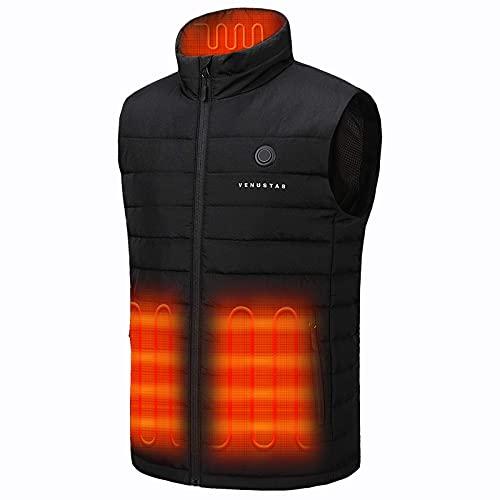 Venustas Men s Heated Vest with Battery Pack 7.4V, Heated hunting vest